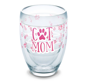 Cat Mom Stemless Tervis Wine Glass-LauraLouCrafted