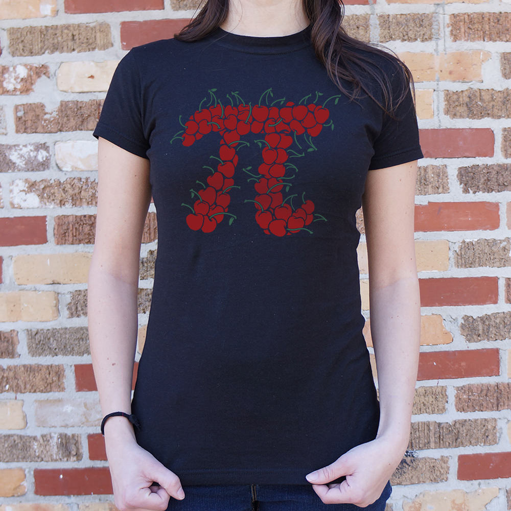 Cherry Pi T-Shirt (Ladies)-LauraLouCrafted