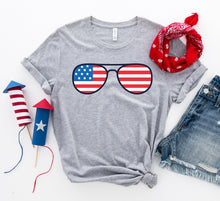 Load image into Gallery viewer, 4th Of July Sunglasses T-shirt-LauraLouCrafted