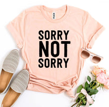 Load image into Gallery viewer, Sorry Not Sorry T-shirt-LauraLouCrafted