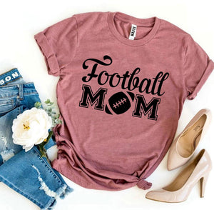 Football Mom T-shirt-LauraLouCrafted