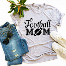Load image into Gallery viewer, Football Mom T-shirt-LauraLouCrafted