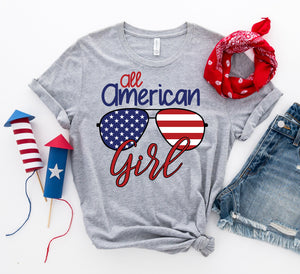 All American Girl T-shirt-LauraLouCrafted