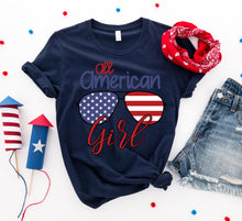Load image into Gallery viewer, All American Girl T-shirt-LauraLouCrafted