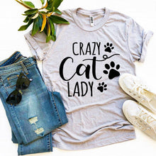 Load image into Gallery viewer, Crazy Cat Lady T-shirt-LauraLouCrafted