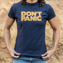 Load image into Gallery viewer, Don't Panic T-Shirt (Ladies)-LauraLouCrafted