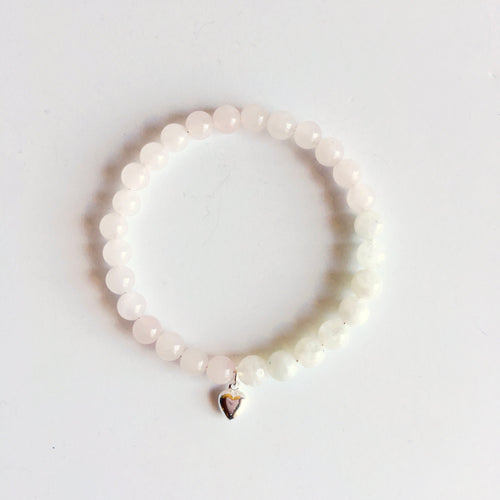 Moonstone & Rose Quartz Bracelet-LauraLouCrafted