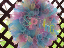 Load image into Gallery viewer, Spring rainbow wreath-LauraLouCrafted
