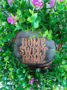 Handmade Home Sweet Home Boxwood Wreath-LauraLouCrafted