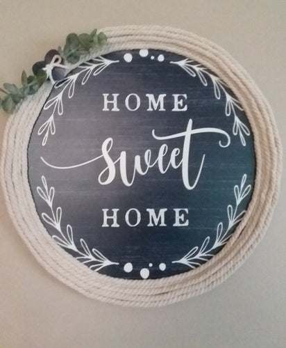 Home Sweet Home wall hanging sign-LauraLouCrafted