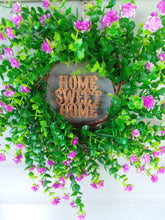 Load image into Gallery viewer, Handmade Home Sweet Home Boxwood Wreath-LauraLouCrafted