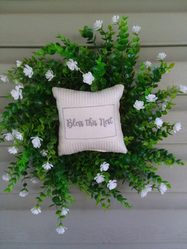 Bless this nest boxwood wreath-LauraLouCrafted