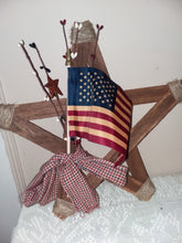 Load image into Gallery viewer, Rustic wood patriotic star decor-LauraLouCrafted