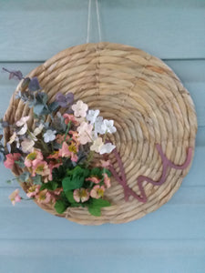 Hi floral hyacinth charger wreath-LauraLouCrafted