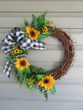 Load image into Gallery viewer, Sunflower grapevine wreath-LauraLouCrafted