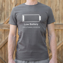 Load image into Gallery viewer, Low Battery T-Shirt (Mens)-LauraLouCrafted