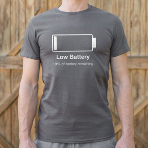 Low Battery T-Shirt (Mens)-LauraLouCrafted
