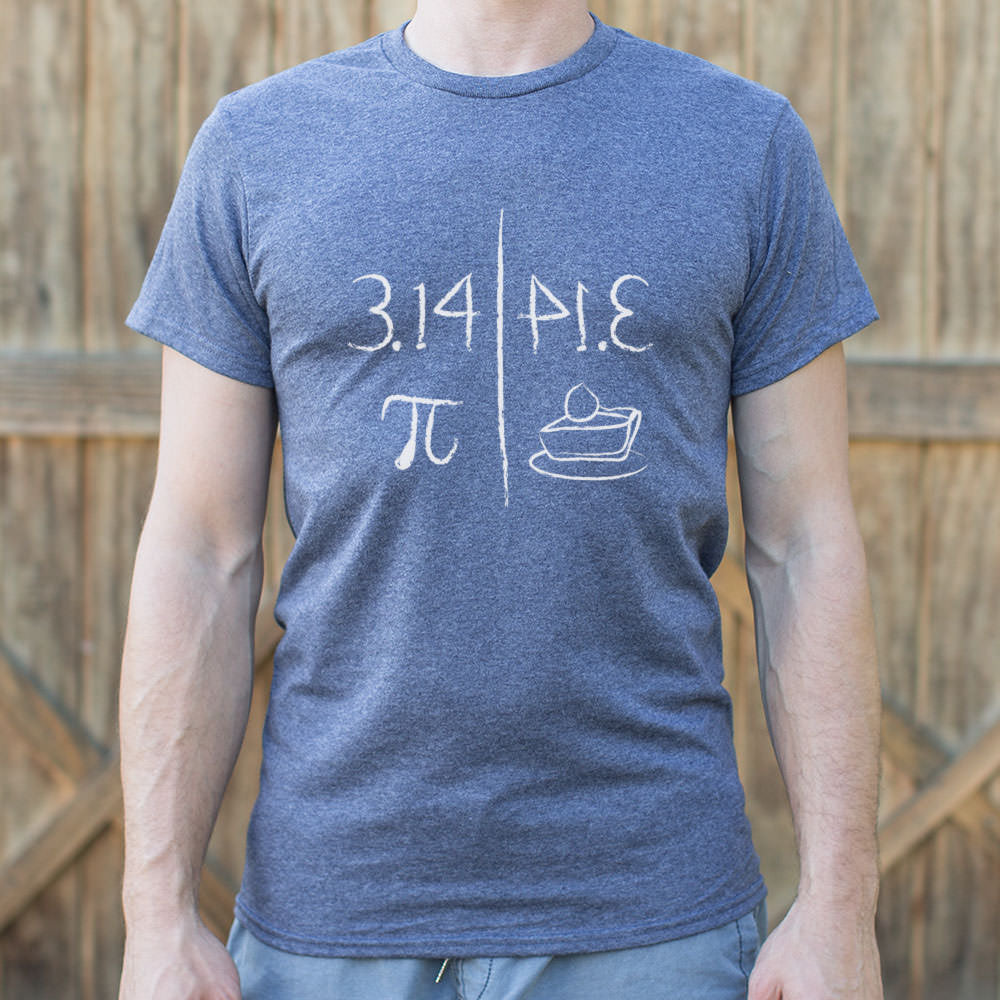 Pi Mirrors Pie T-Shirt (Mens)-LauraLouCrafted
