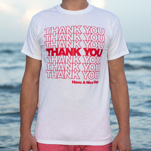 Thank You Bag T-Shirt (Mens)-LauraLouCrafted