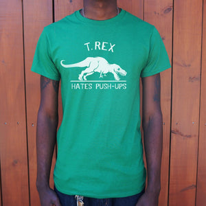T.Rex Hates Push-Ups T-Shirt (Mens)-LauraLouCrafted