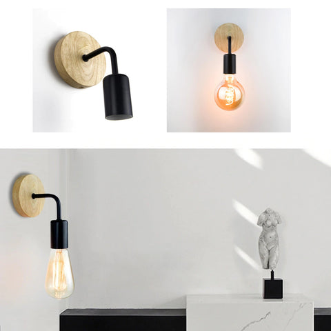 Various angles showing a wall sconce light on the wall