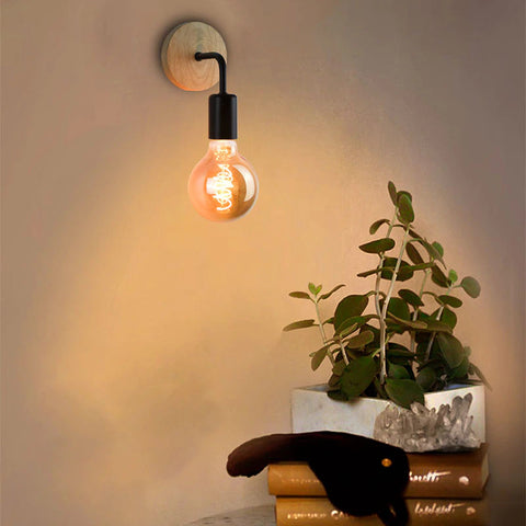 Wall sconce light on wall