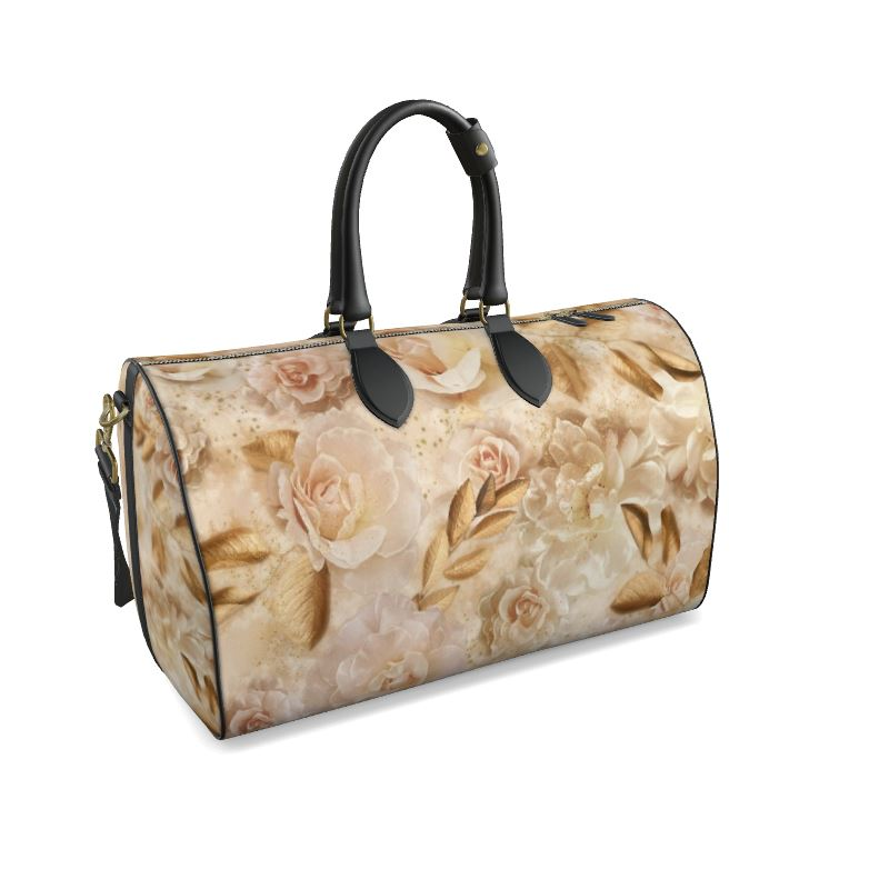 Dreamy Floral Leather Duffle