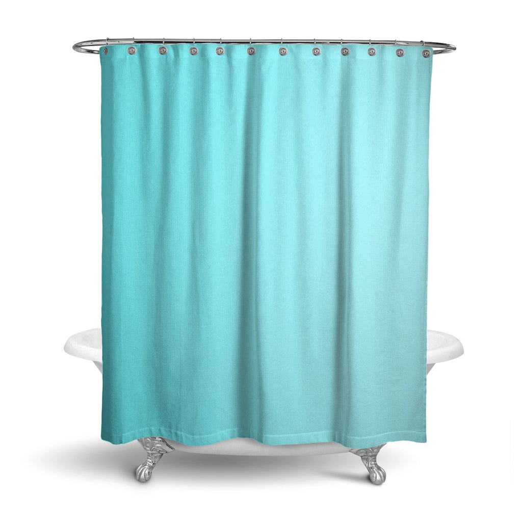 Castlefield Design Aqua Shower Curtain
