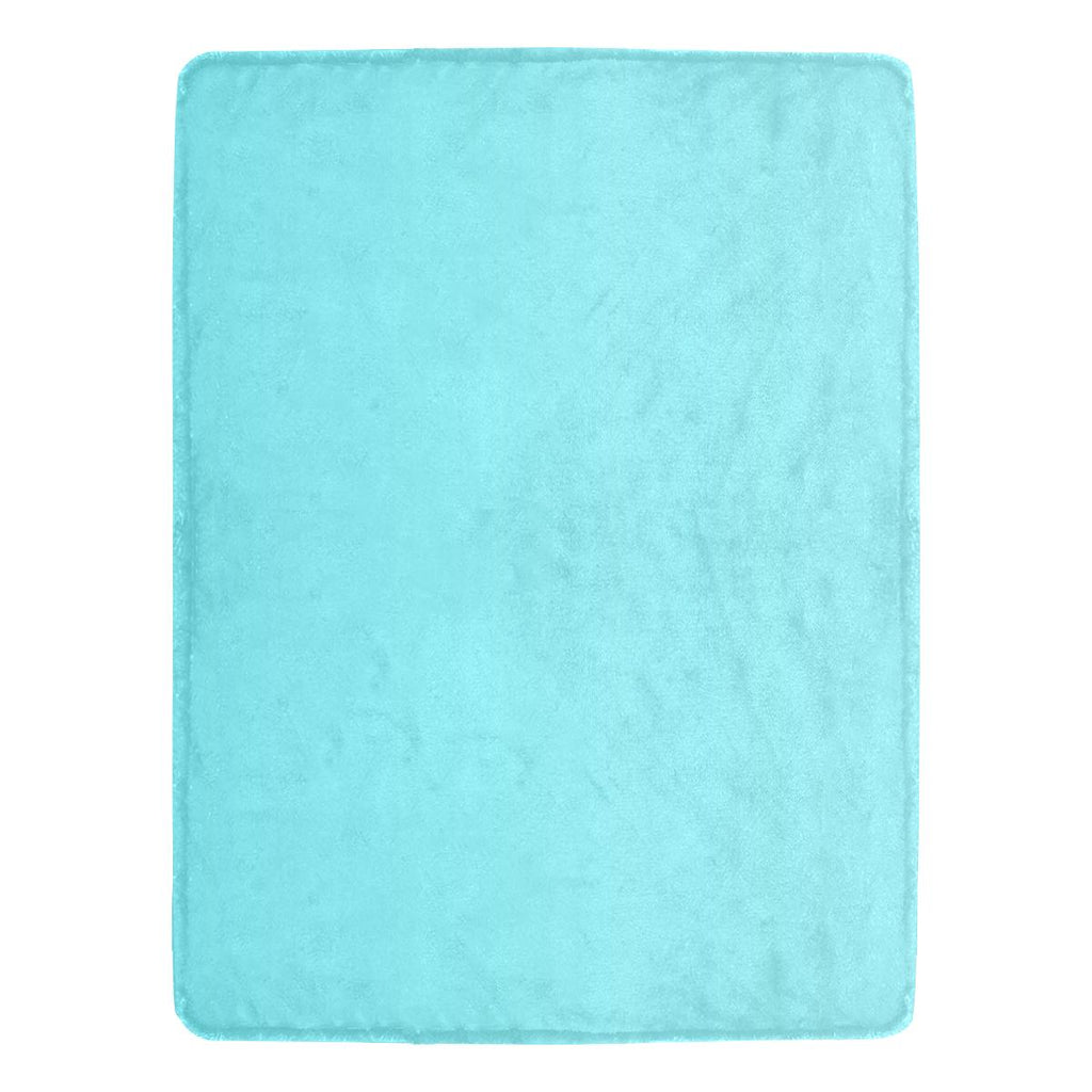 Castlefield Design Aqua Throw Blanket