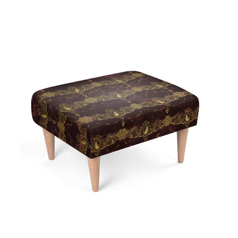 Castlefield Design Baroque Jewels Footstool