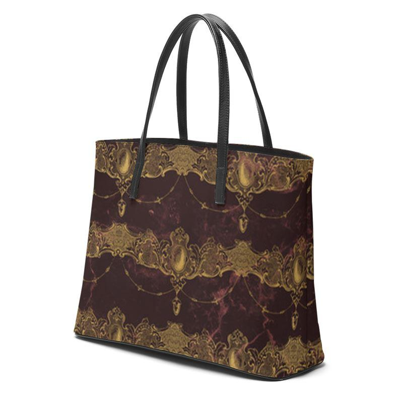 Castlefield Design Baroque Jewels Leather Tote