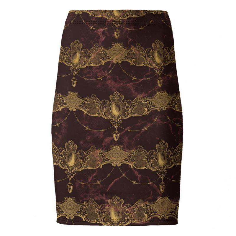 Castlefield Design Baroque Jewels Pencil Skirt