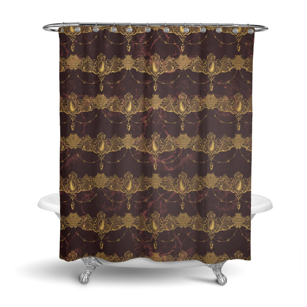 Castlefield Design Baroque Jewels Shower Curtain