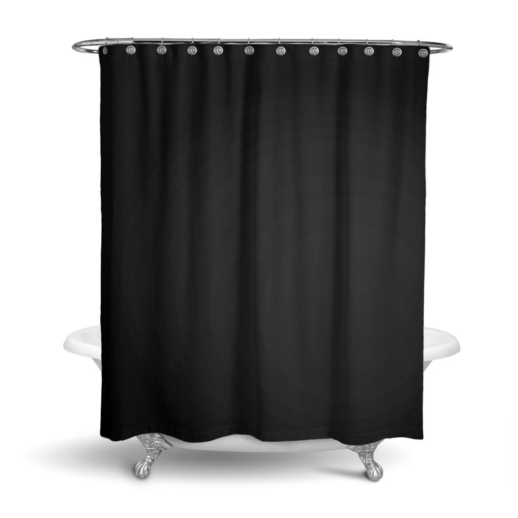 Castlefield Design Black Shower Curtain