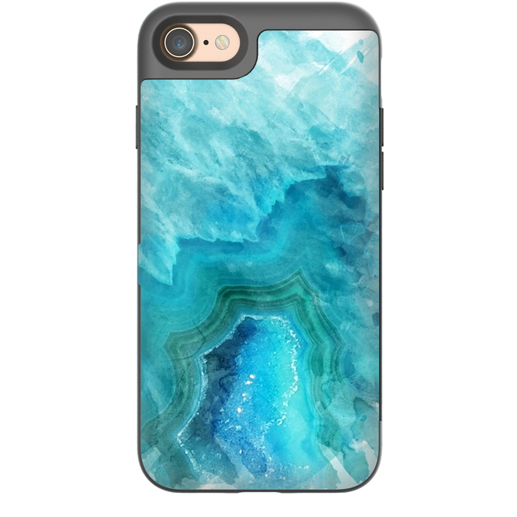 Castlefield Design Blue Aqua Agate iPhone Cases