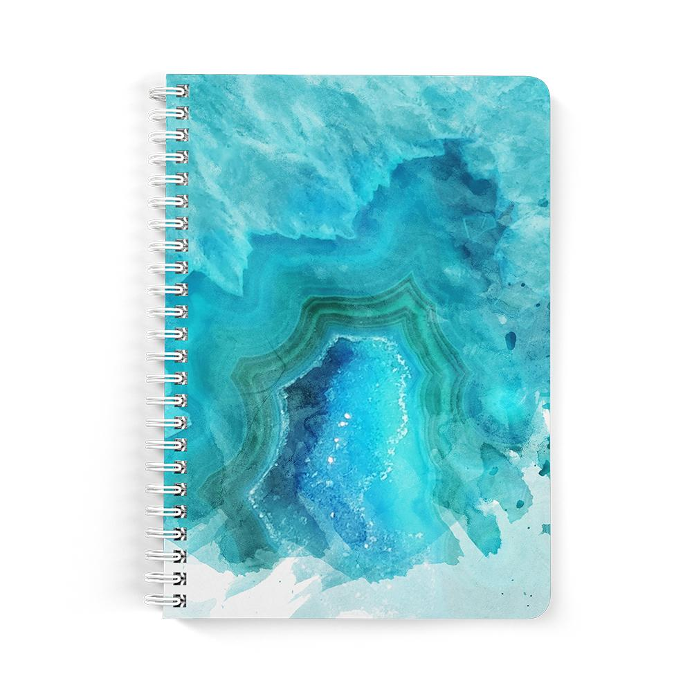 Castlefield Design Blue Aqua Agate Notebooks
