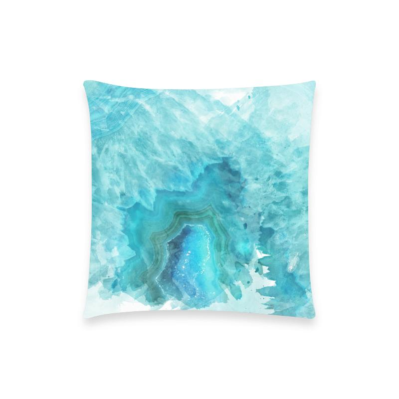 Castlefield Design Blue Aqua Agate Pillow Cases