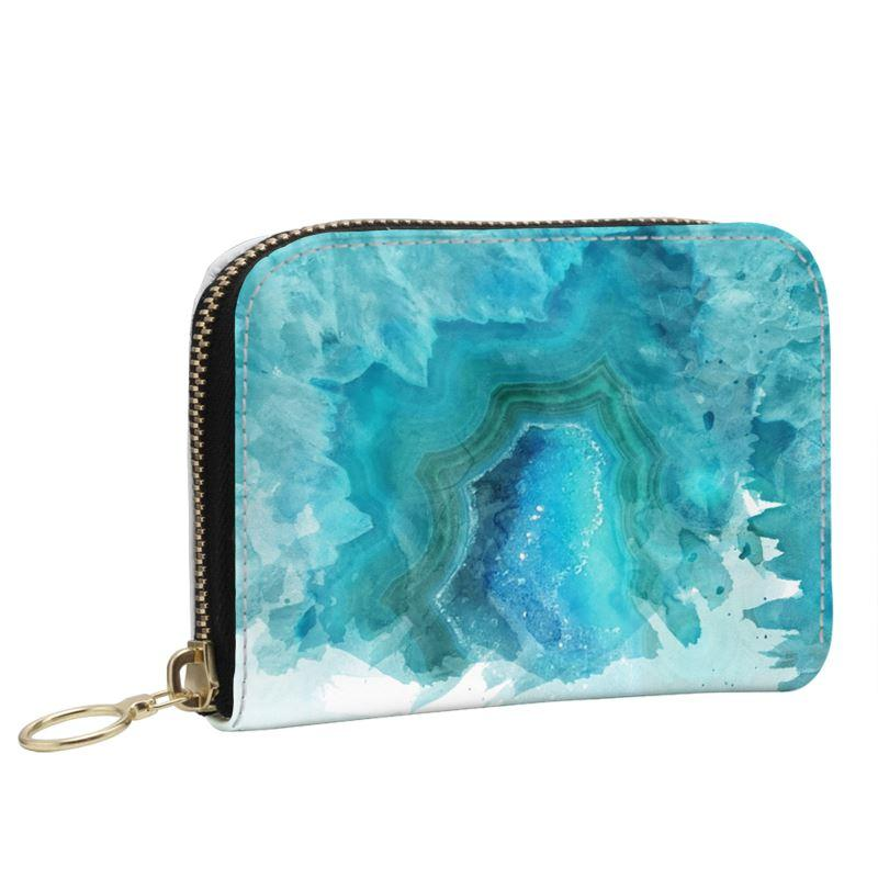 Castlefield Design Blue Aqua Agate Small Wallet