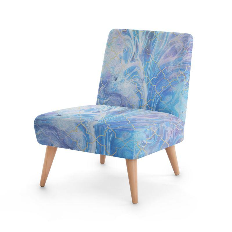 Castlefield Design Blue Marble Geometric Chair