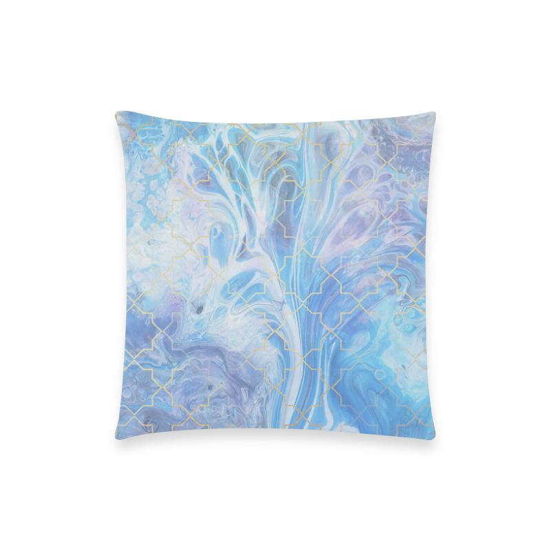 Castlefield Design Blue Marble Geometric Pillow Cases