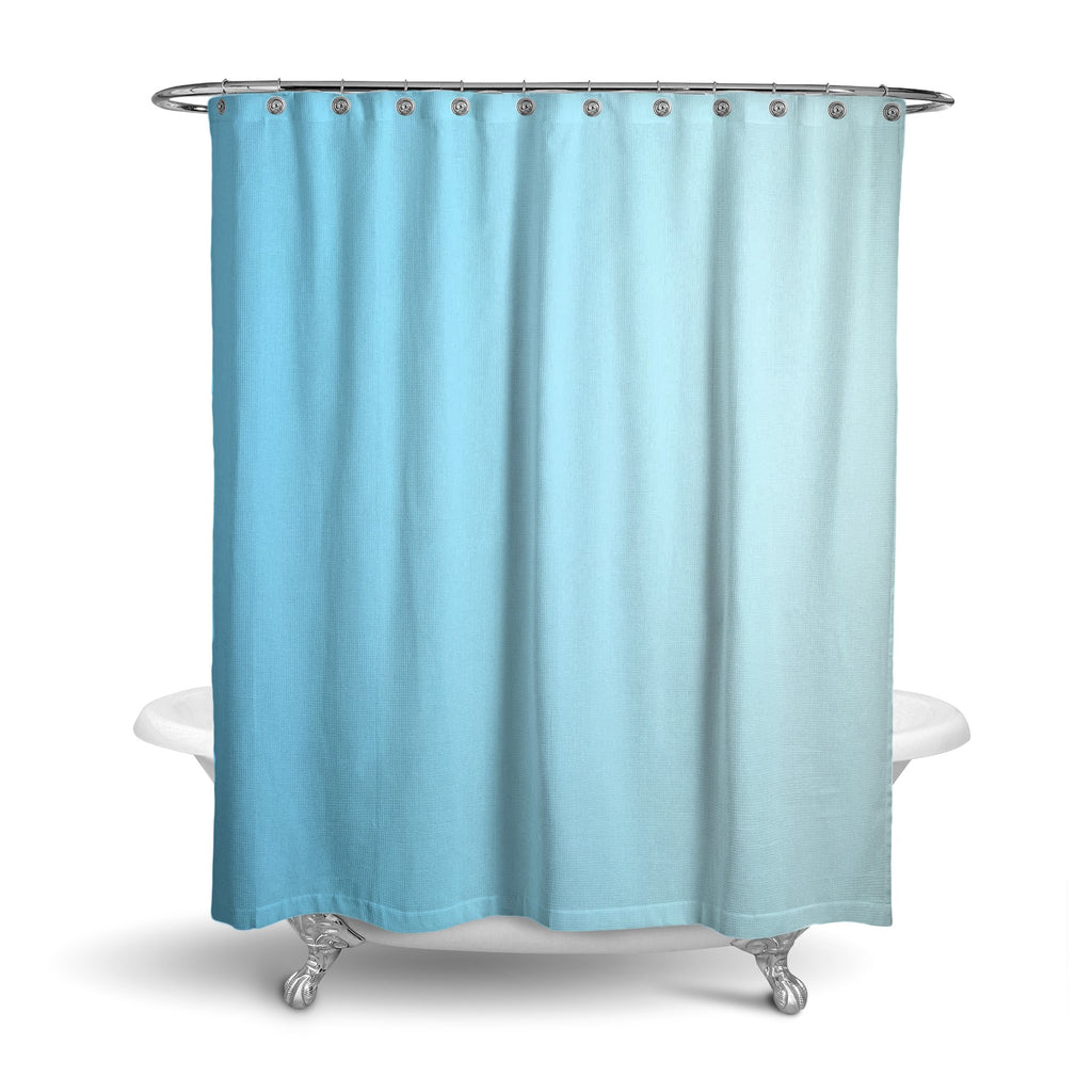 Castlefield Design Blue Shower Curtain