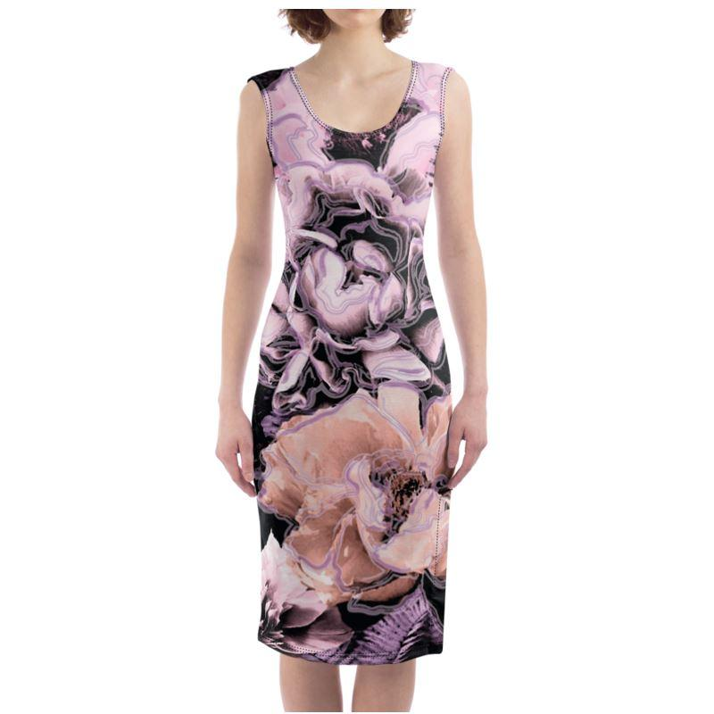 Castlefield Design Bold Floral Bodycon Dress