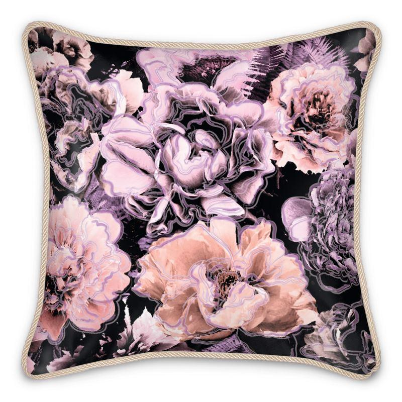 Castlefield Design Bold Floral Silk Cushion