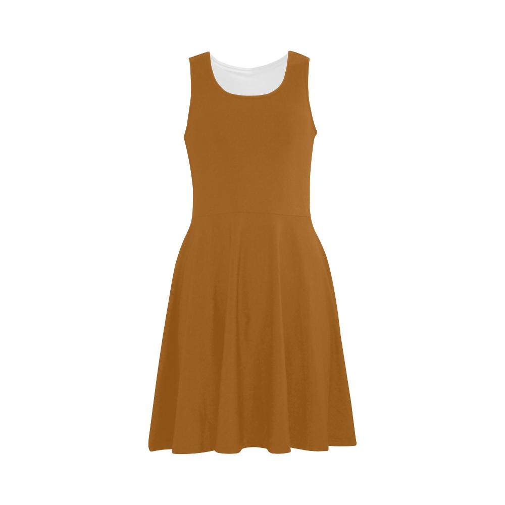 Castlefield Design Camel Flare Dress