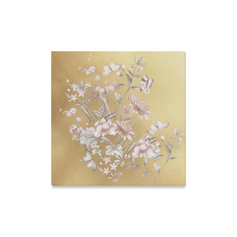 Castlefield Design Chinoiserie Gold Canvas Prints
