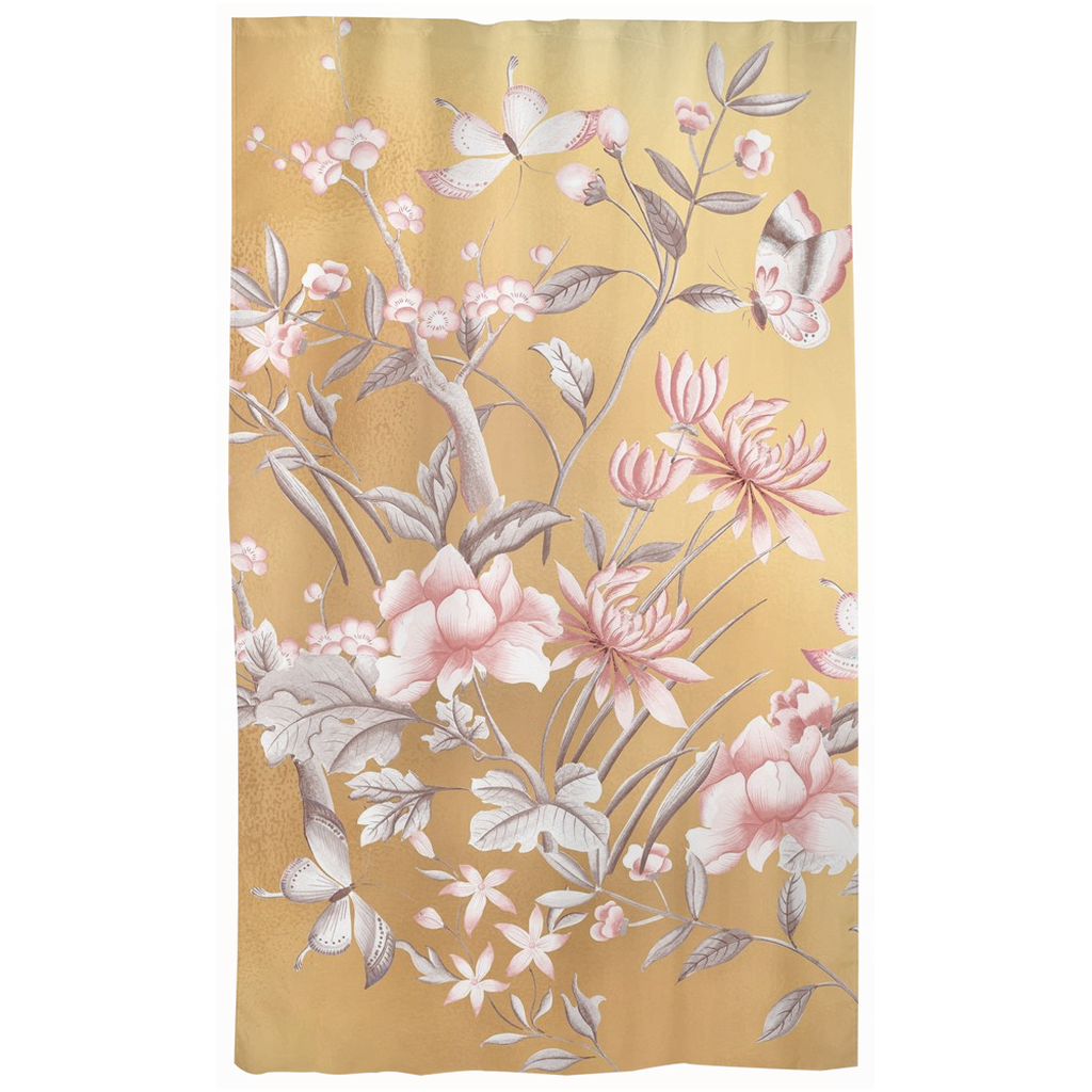 Castlefield Design Chinoiserie Gold Curtains