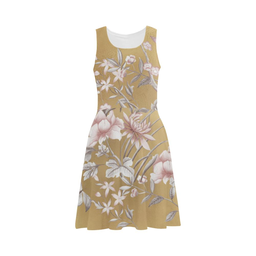 Castlefield Design Chinoiserie Gold Flare Dress
