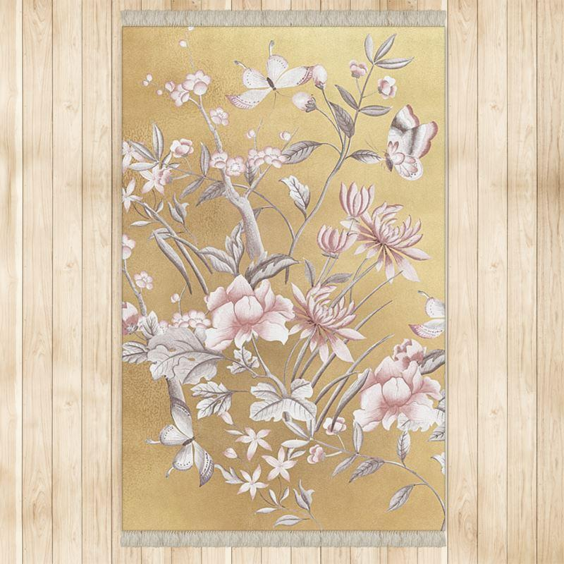 Castlefield Design Chinoiserie Gold Rug