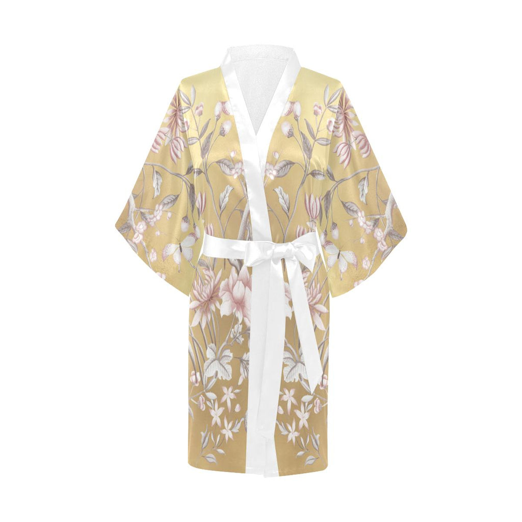Castlefield Design Chinoiserie Gold Satin Robe