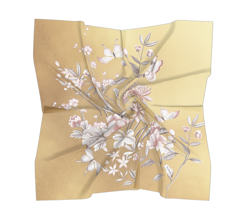 Castlefield Design Chinoiserie Gold Scarves
